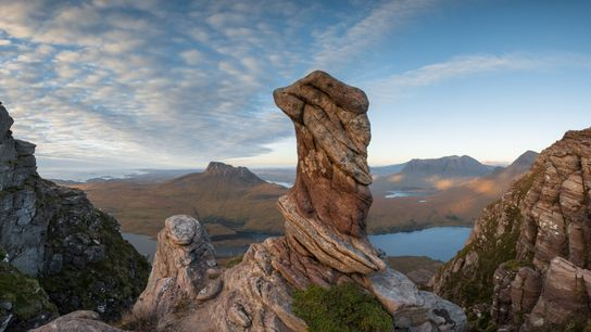 A moor—like the scene visible from Sgorr Tuath, a peak in the northwest of Scotland—is a ...