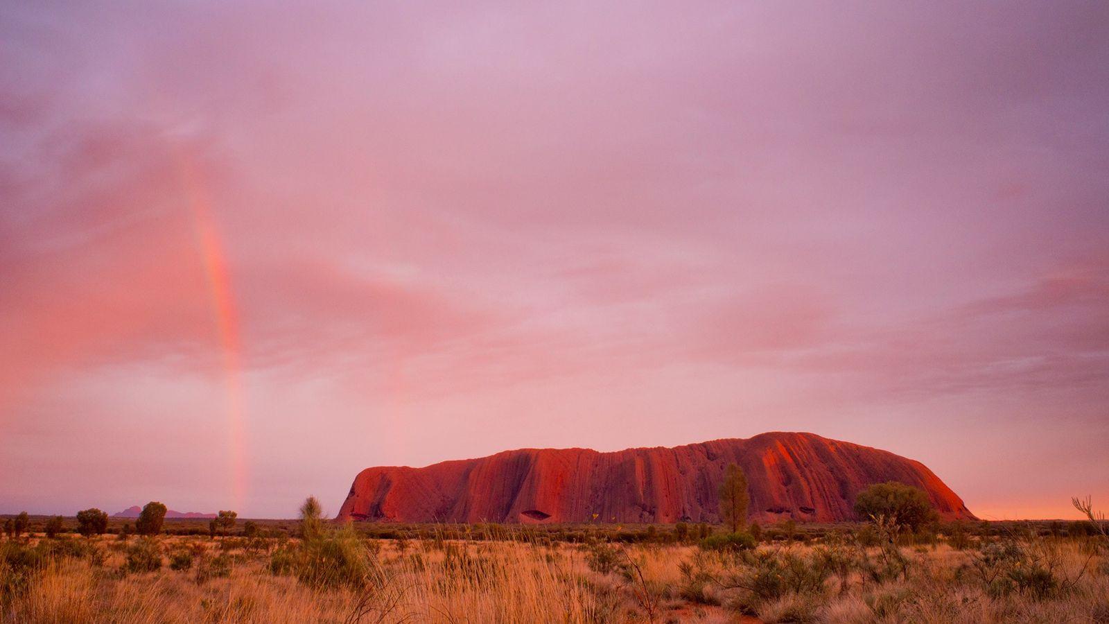 Uluru, a massive sandstone monolith in central Australia sacred to the local Aboriginal peoples, will soon ...