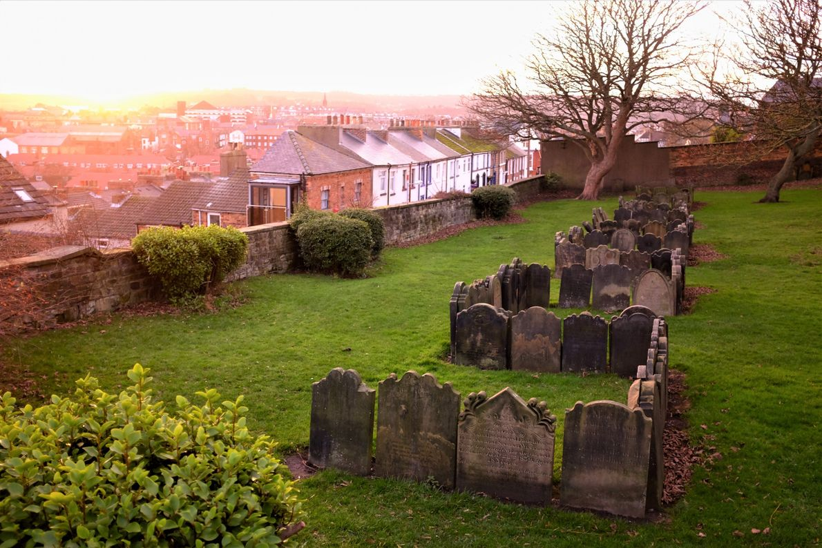 "Katie Thornton: ""There is no record of why the graves as this Scarborough churchyard were arranged ..."