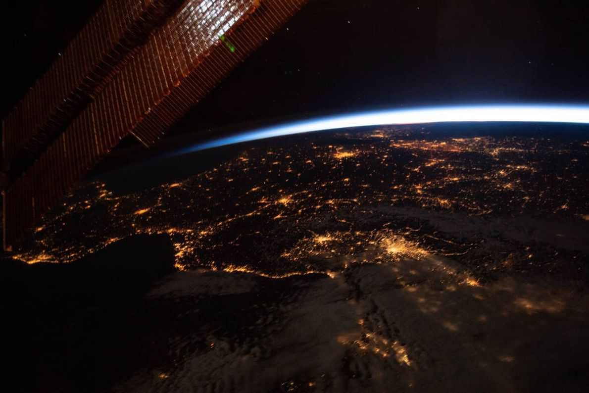 As the International Space Station drifted 256 miles above Earth on May 13, the orbiting laboratory's ...