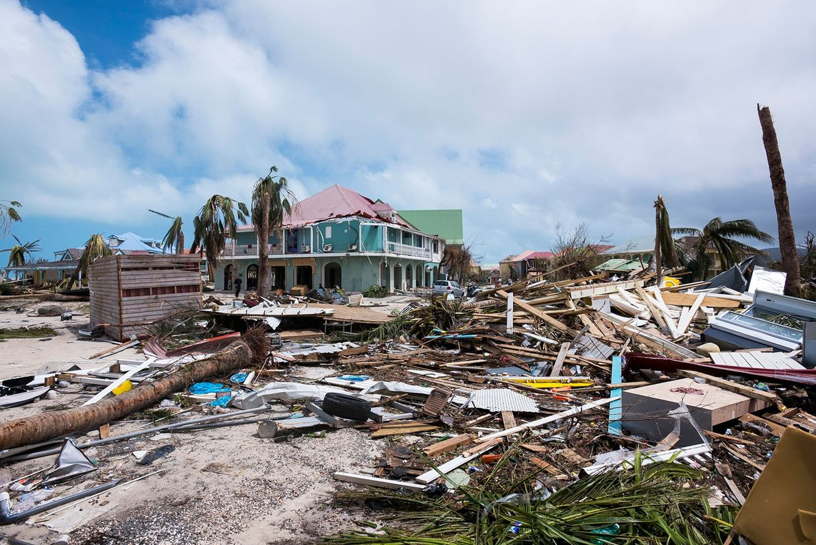 Many islands in the Caribbean saw massive amounts of destruction. Debris and levelled buildings can be ...