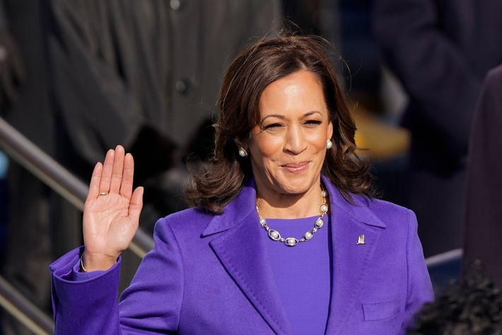 Kamala Harris is sworn in as vice president by Supreme Court Justice Sonia Sotomayor as her ...