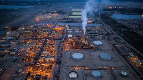 The Syncrude oil sands plant is seen north of Fort McMurray, Alberta. The province is home ...