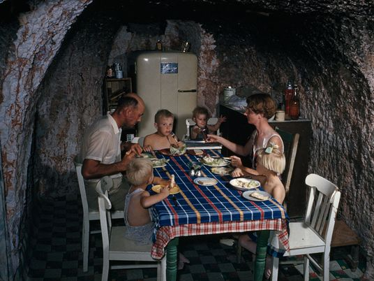 See vintage photos of cave dwellings around the world