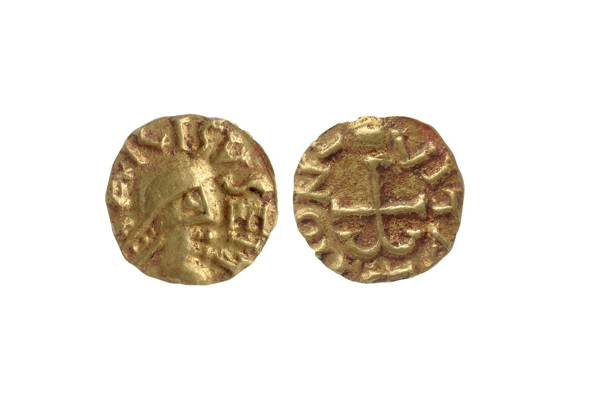 Gold coins discovered within the immediate vicinity of the man buried in the tomb have helped ...