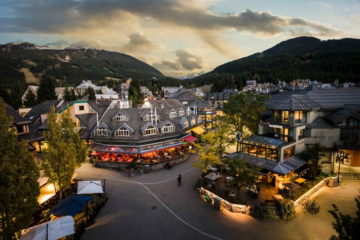 Whistler, the province's adventure capital, is ringed by giant peaks, drawing winter sport devotees in the ...
