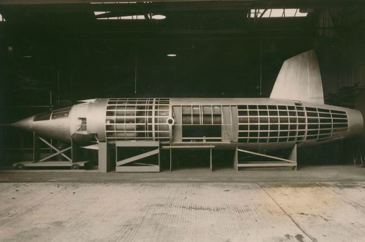The fuselage of the mockup M.52. Intended to take off and land from the ground due ...