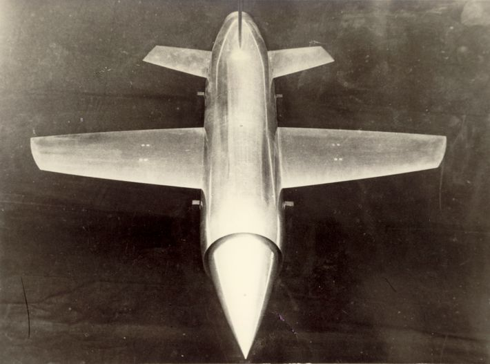 The design of the M.52 featured short, straight wings and a bullet-shaped fuselage – attributes designed for ...