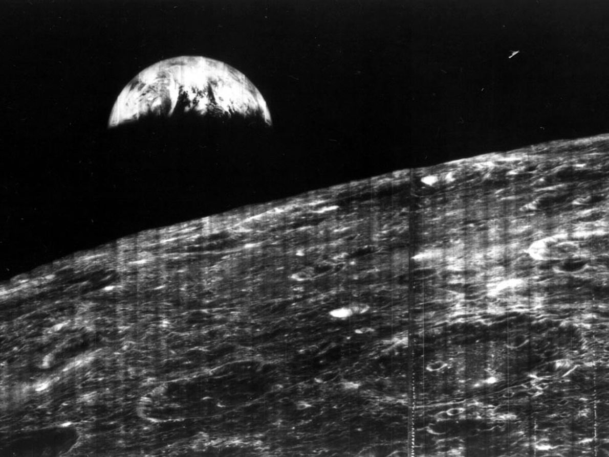 This photo was the world's first view of Earth taken near the moon. It was snapped ...