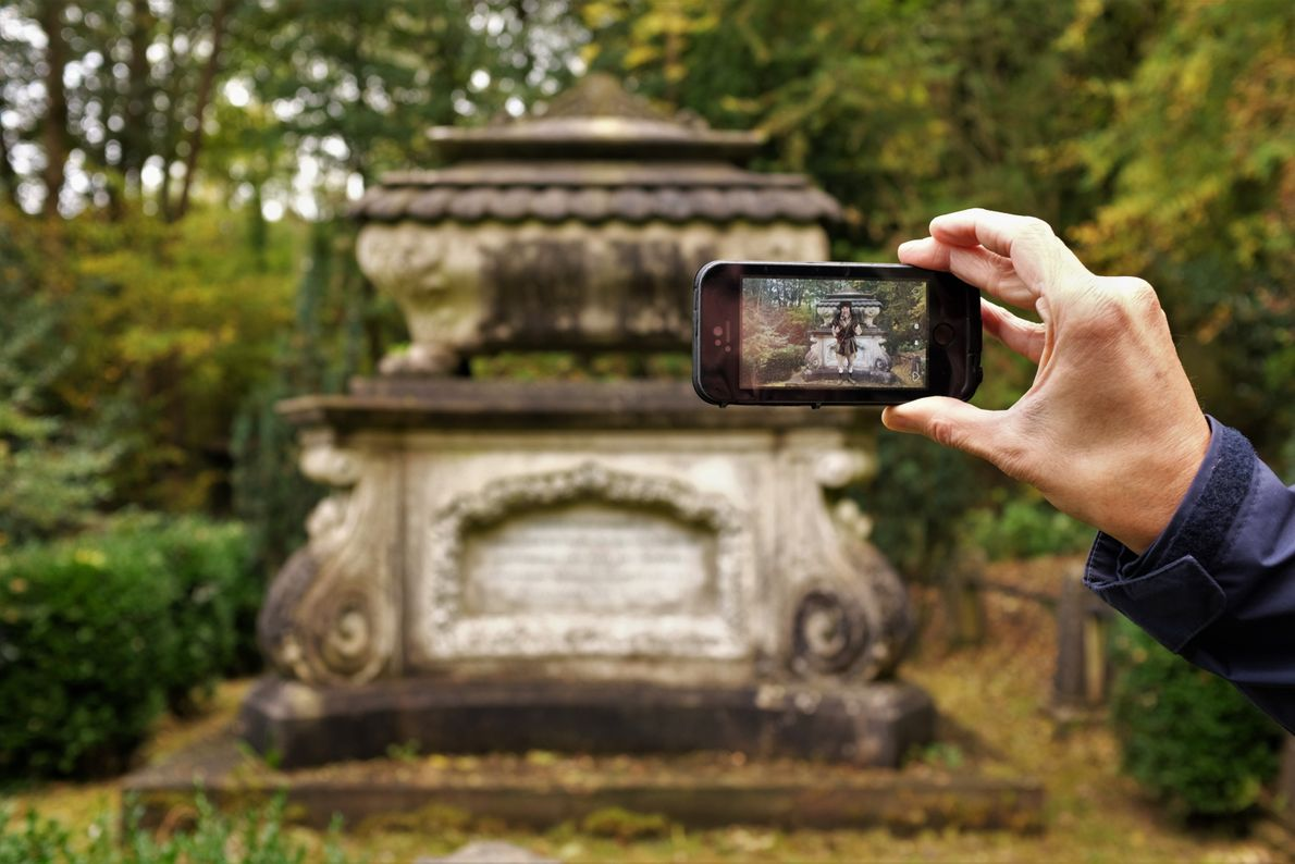 """Katie Thornton: """"Whether it's stonemasonry, laser etching, or mobile apps, cemetery spaces have always utilised new ..."""