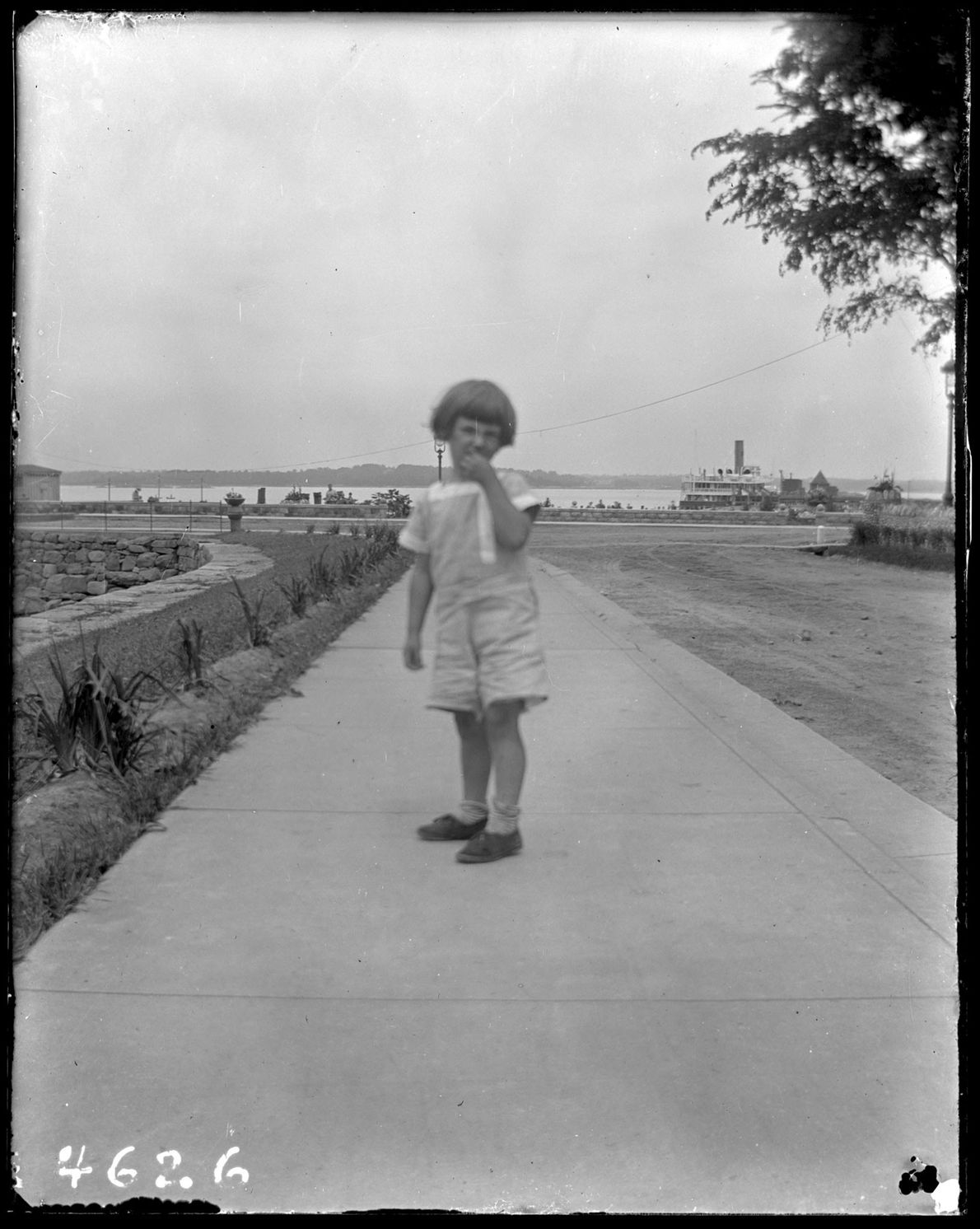 An unidentified child on Hart Island c. 1913.