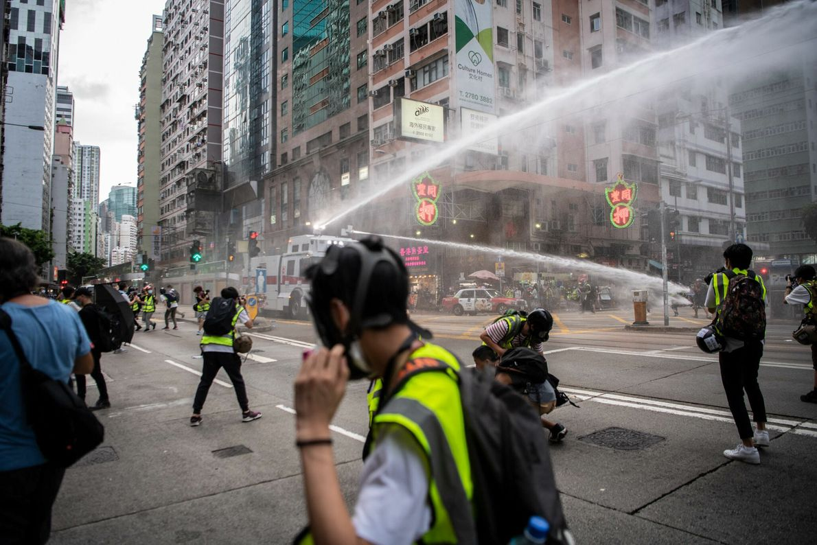 The day after China passed a national security law criminalizing dissent in Hong Kong, the police ...