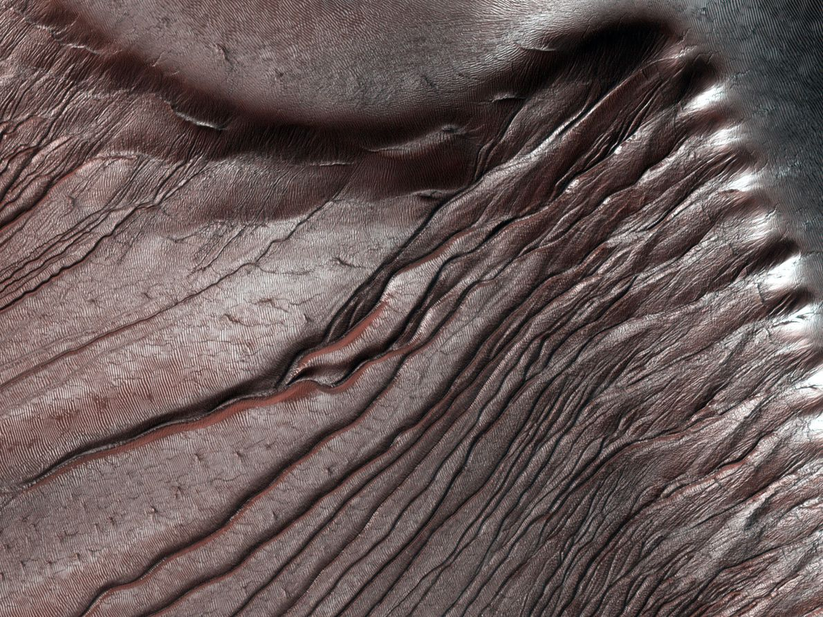 Russell Crater dunes are a favourite target for the Mars Reconnaissance Orbiter's HiRISE camera, not only ...