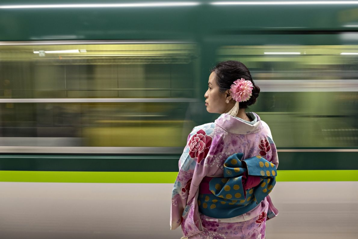 Your Shot photographer Prasad Ambati made this image of a woman wearing a kimono in Kyoto ...