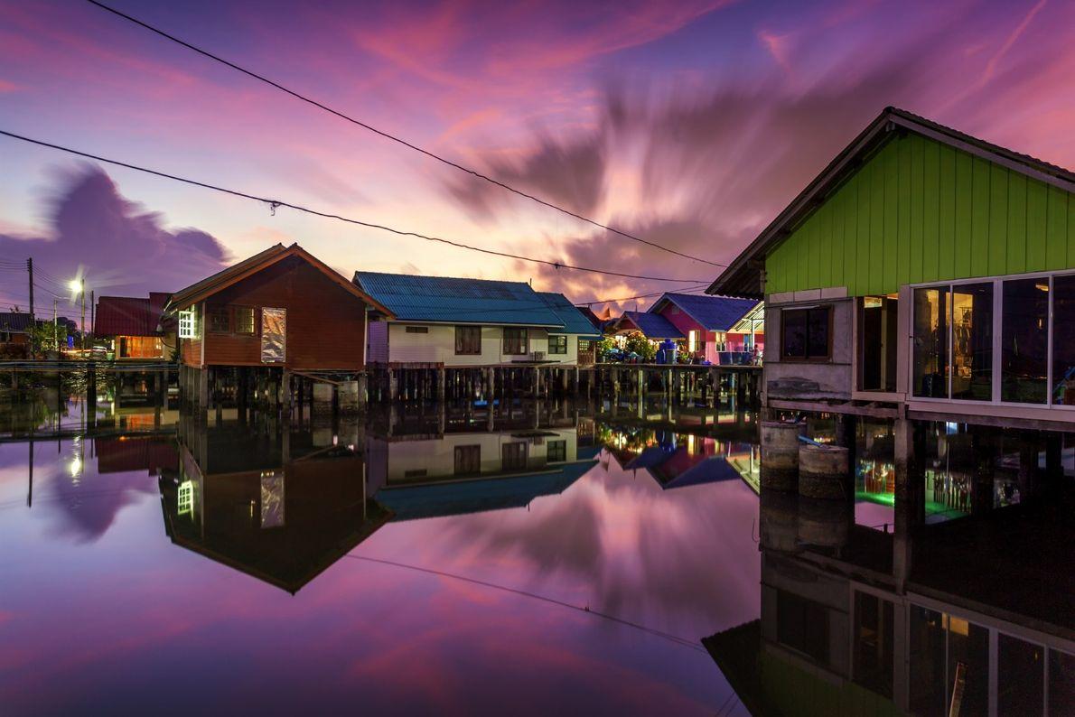 Your Shot photographer Kampol Jindaprom photographed this community on south-east coast of Phuket Island, Thailand where ...