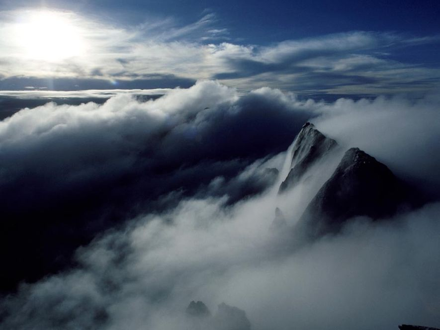 Fog obscures the summit of Malaysia's Mount Kinabalu, a 13,455-foot (4,101-metre) peak in northwestern East Malaysia. …
