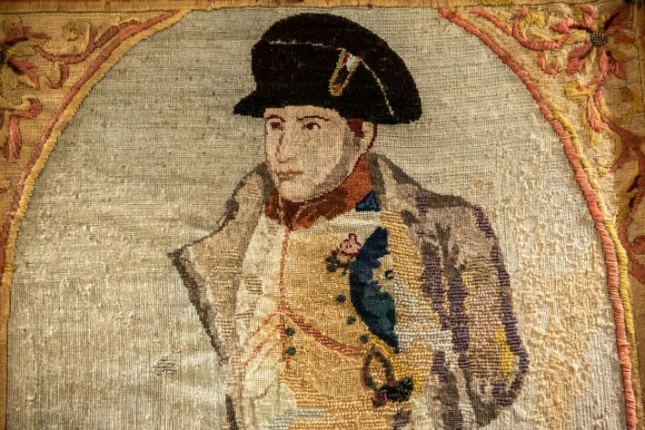 Embroidered portrait of Napoleon