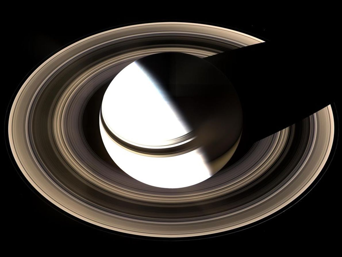 Saturn's otherworldly rings encircle the planet and extend out for hundreds of thousands of kilometres. The ...