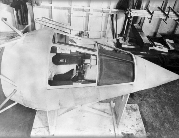 A view of the M.52 cockpit. It was designed with a capsule that could be ejected ...