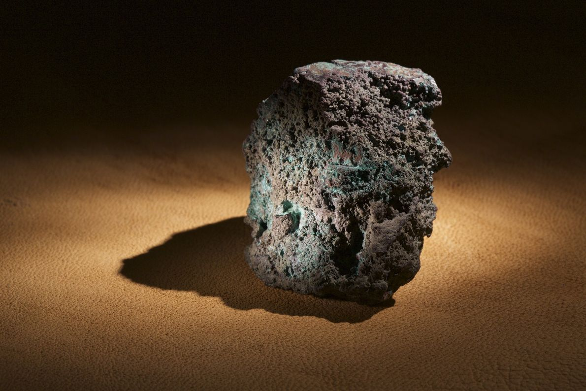 A lump of smelted copper ore found on Roanoke Island is strong evidence of metallurgical work ...