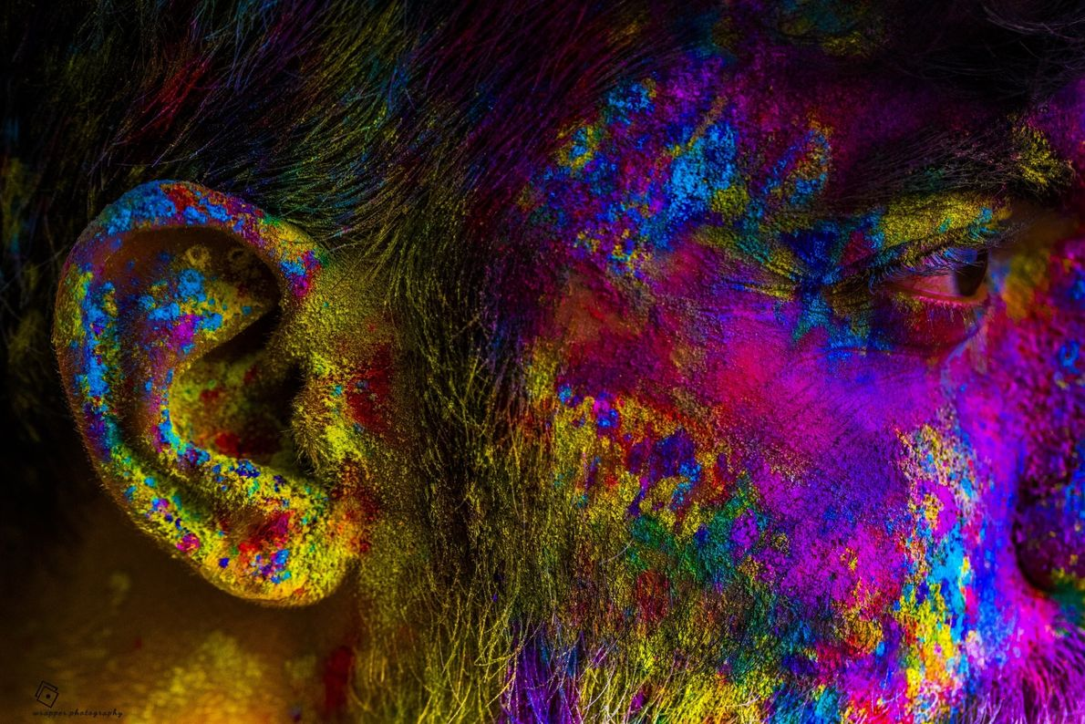 Your Shot photographer Vatsal Fadia made this photograph during a Holi Festival celebration in India.