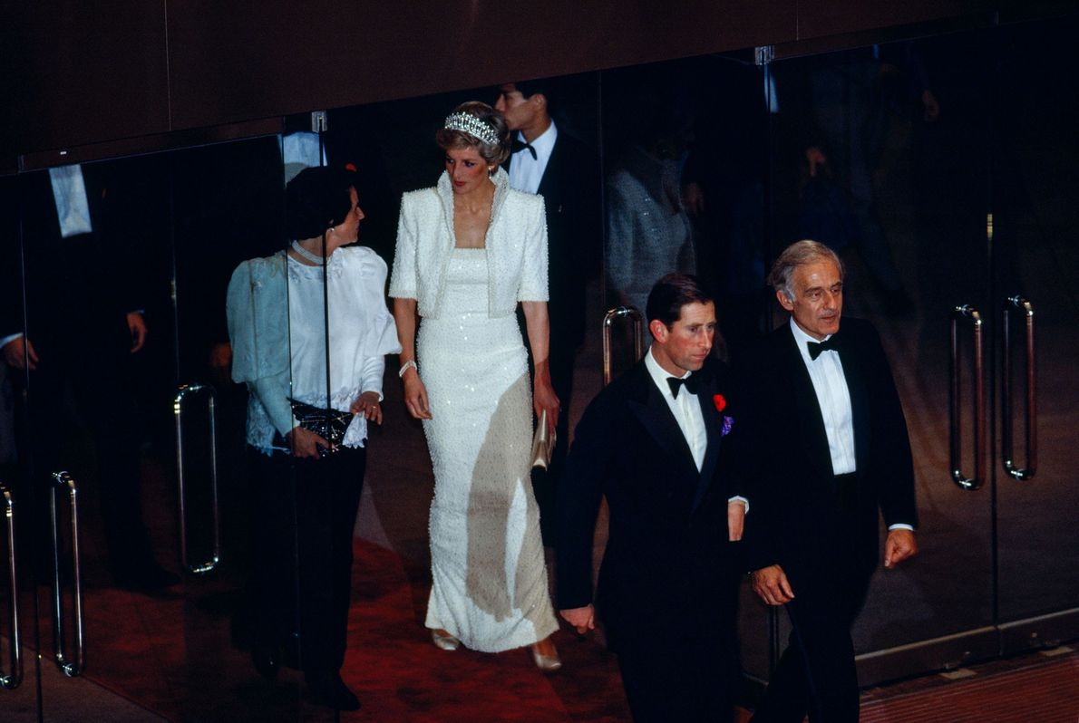 The most famous royal couple of the 20th century, Prince Charles and Lady Diana, on a ...