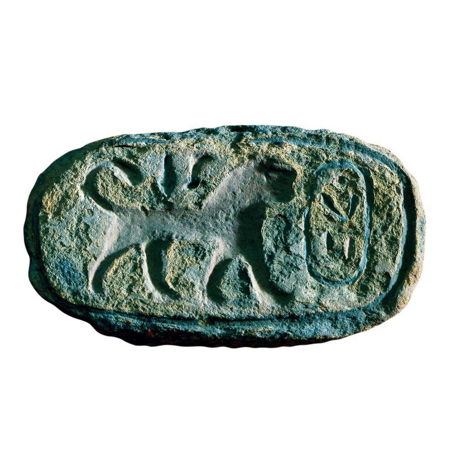 Terra-cotta seal of Pharaoh Amenhotep I, Louvre Museum, Paris