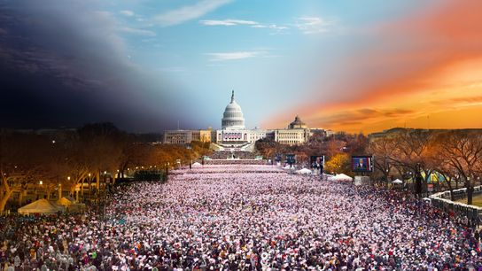 On January 21, 2013, the National Mall was crowded with people who had gathered to watch ...