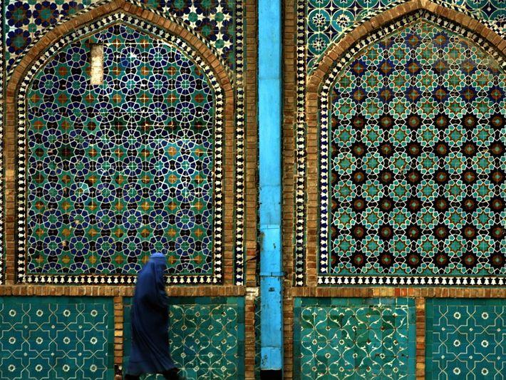 Blue Mosque, Mazar-e Sharif, Afghanistan