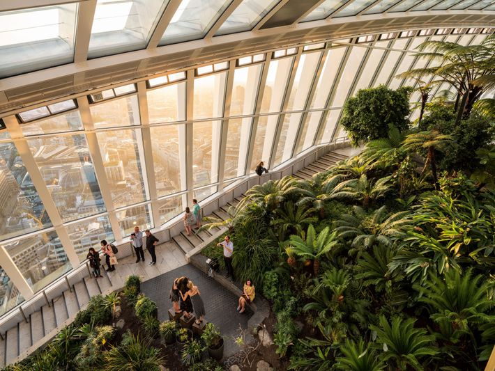 Visitors take in the view from the top of 20 Fenchurch Street, known as the as ...