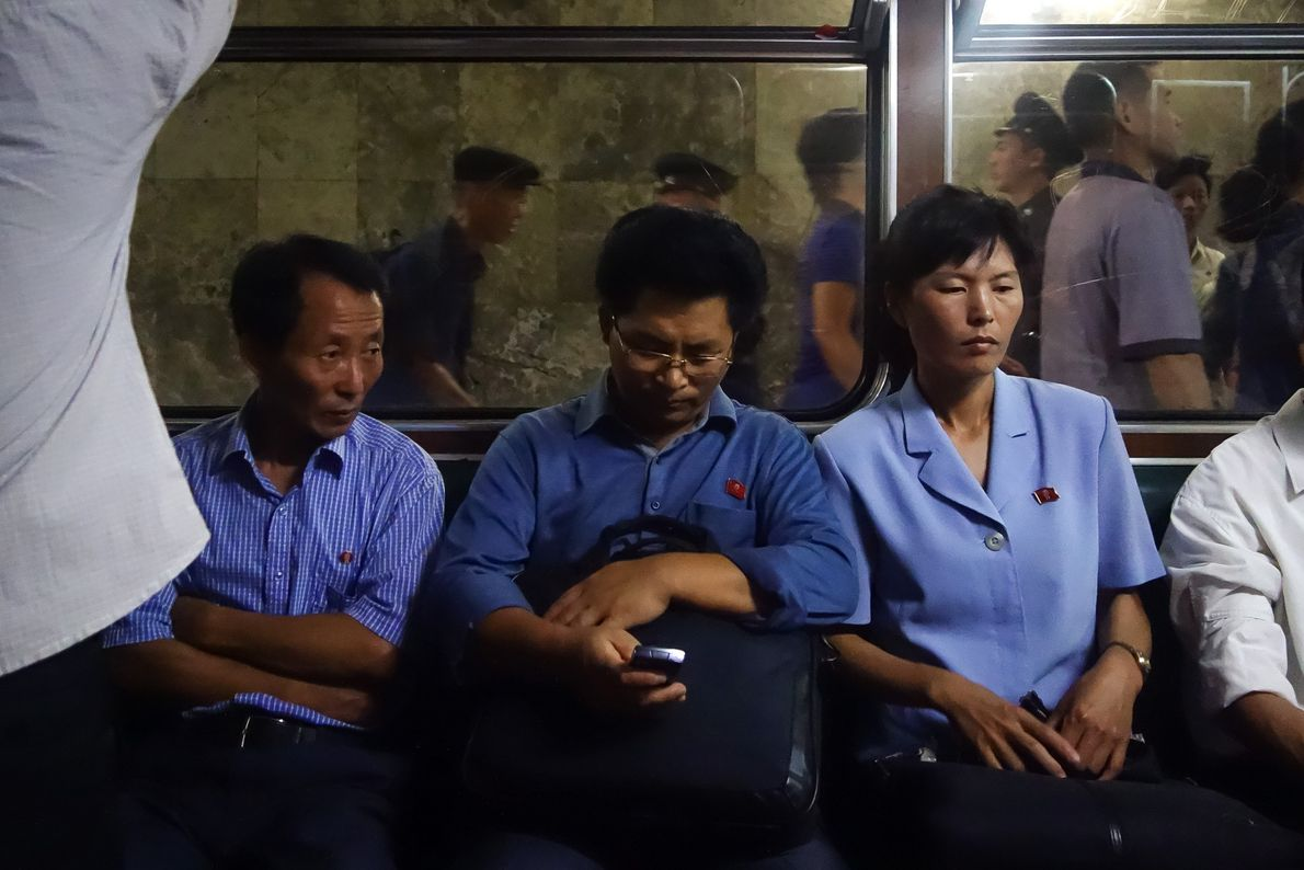 """""""Nobody ran, pushed, laughed, or smiled in the Pyongyang Metro,"""" Davies says. """"There was no chatter."""" ..."""