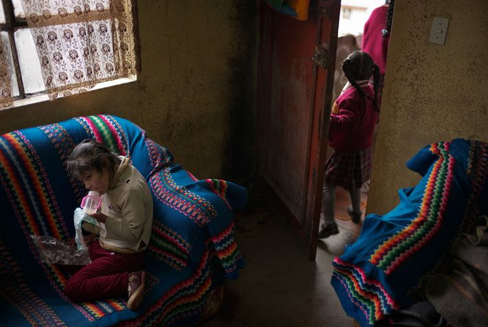 When Tahis Carhuaricra, 7, was a baby, her blood lead concentration was more than 13 times ...