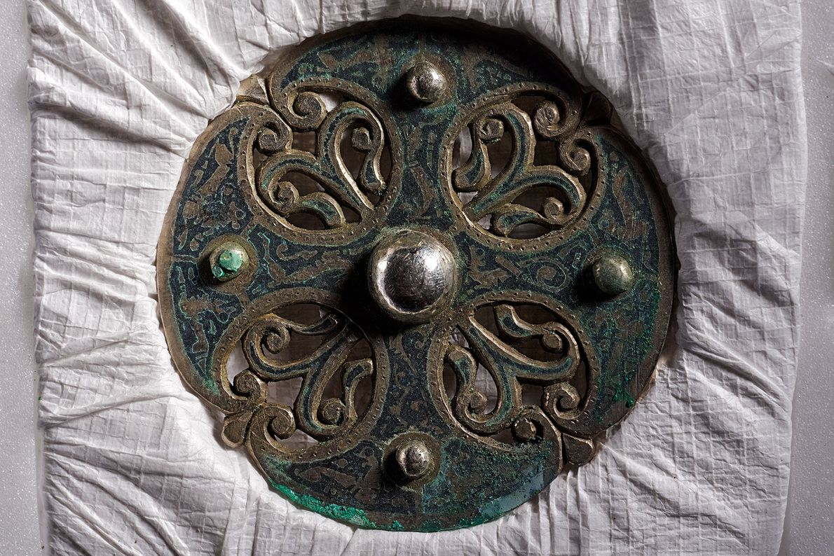 The work of a master metalsmith, this disc brooch may have been stolen from an Anglo-Saxon ...