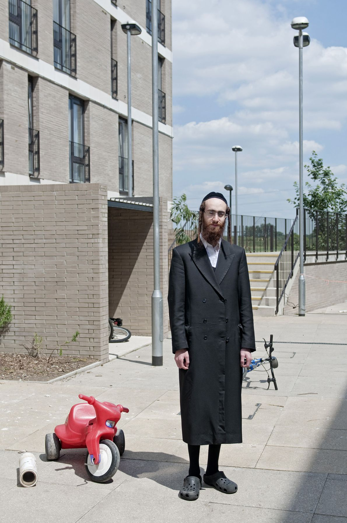 A member of the Jewish community in Hackney, London