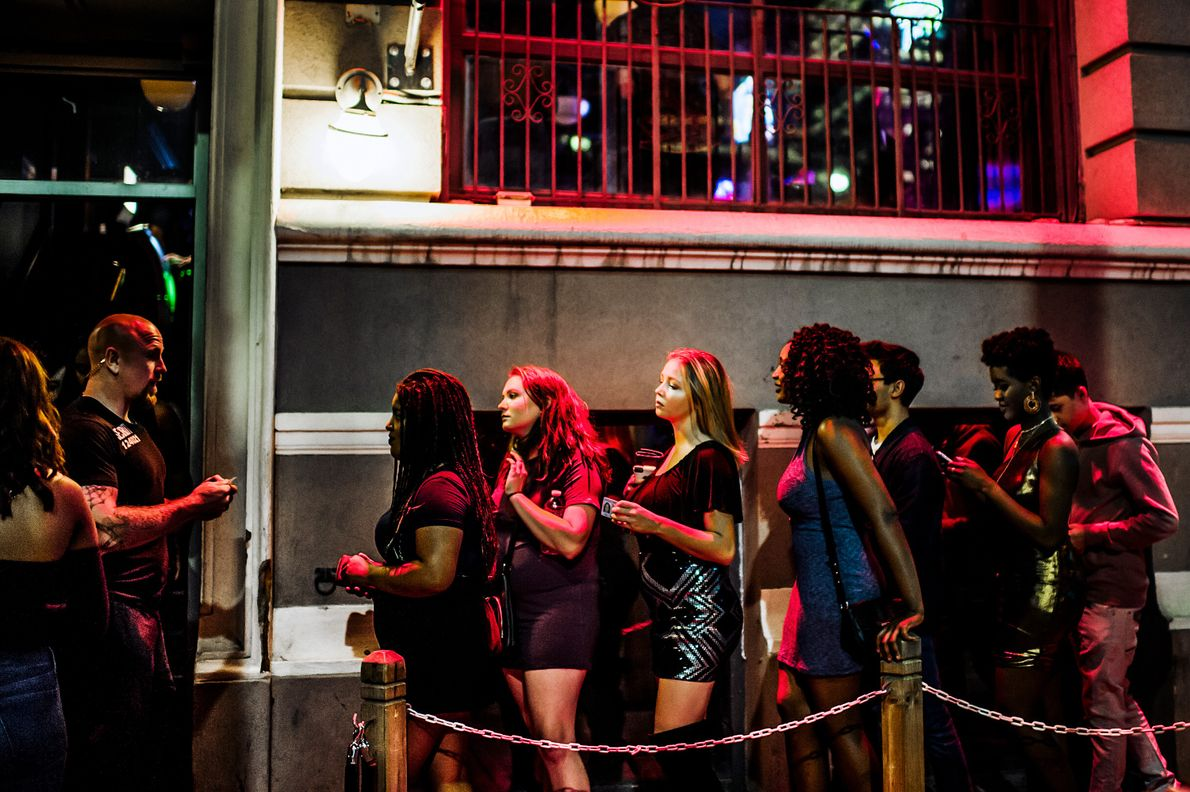 Queues form outside King Street's hottest clubs.
