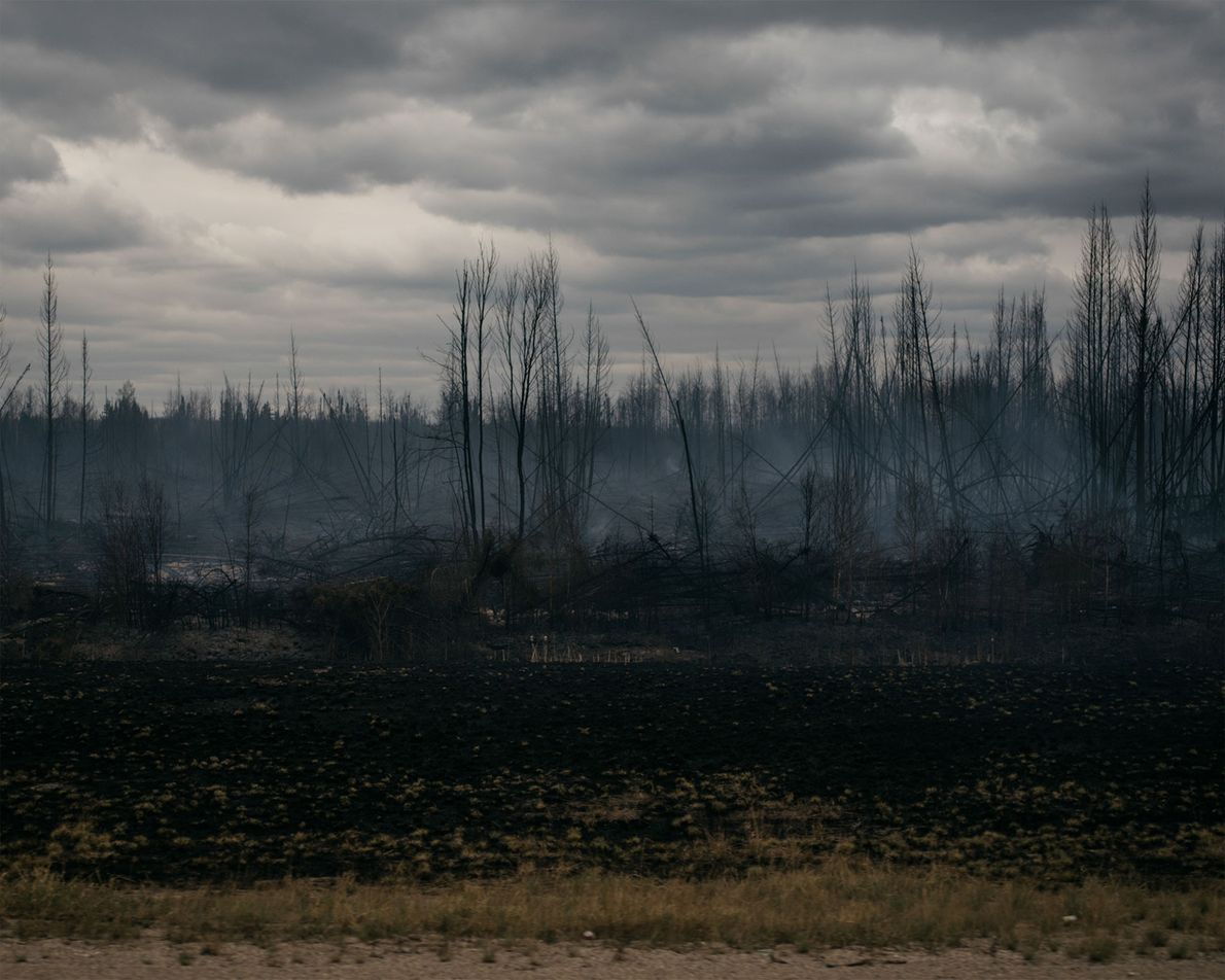 With no rain in the forecast, the fire continues to spread east toward the Saskatchewan border.