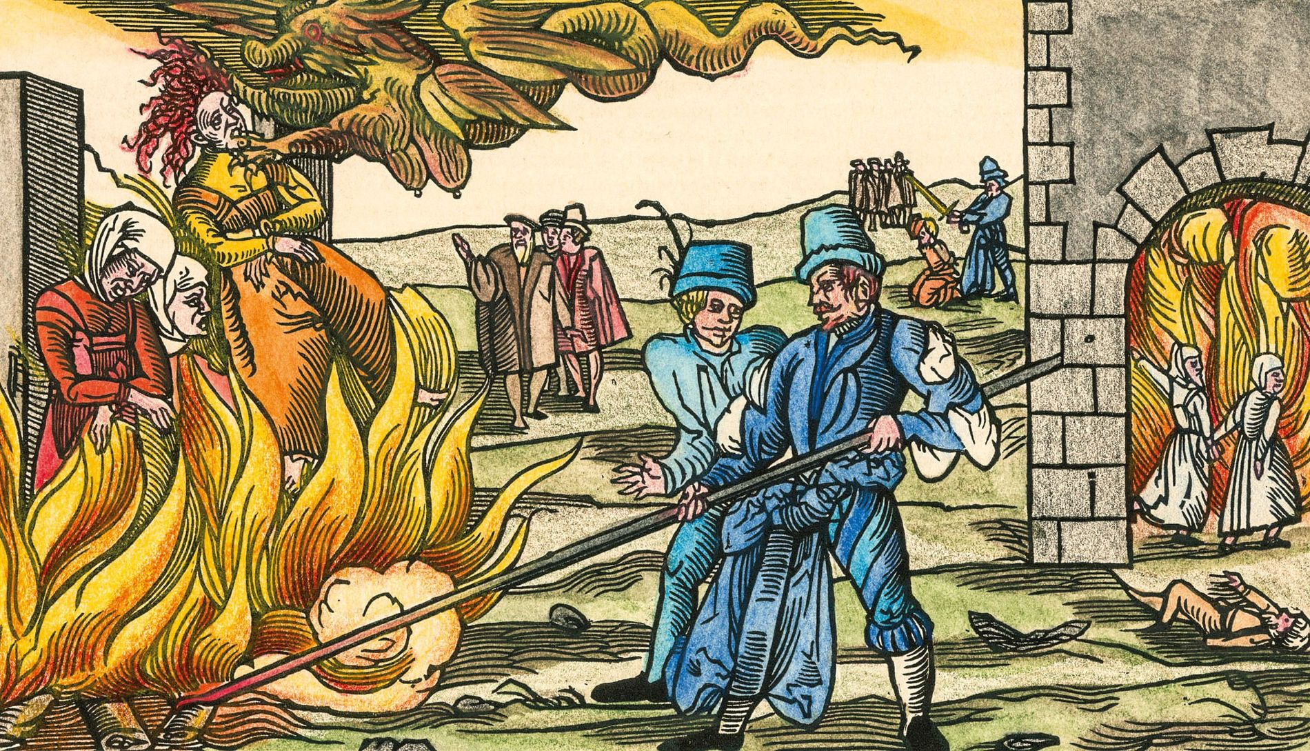 Burning witches alive was common in Germany and other parts of Europe, but in Scotland the convicted were usually strangled before their bodies were burned.