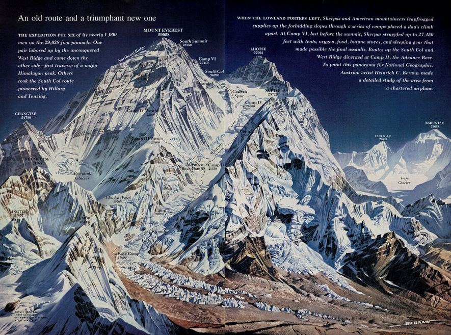 Mount Everest reaches 8,848 metres (29,029 feet), making it Earth's highest point above sea level. The ...