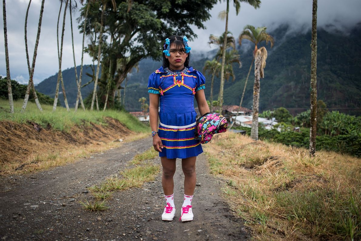 Angélica is dressed for a trip to the nearby village of Santuario on a Saturday morning. ...