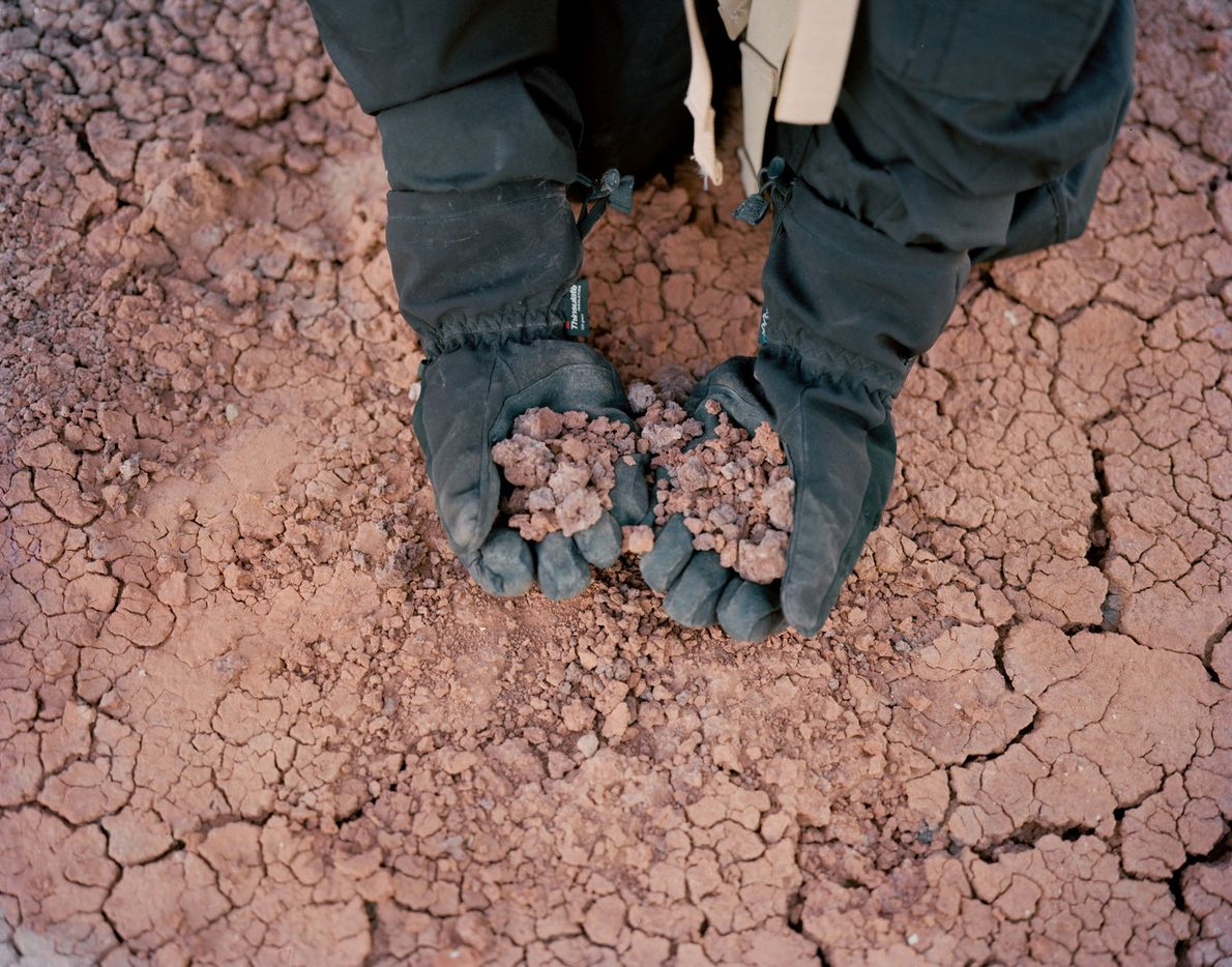 The desert soil looks and feels a lot like the red planet's surface at the Mars ...