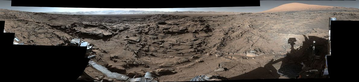 NASA's Curiosity rover snapped this 360-degree panorama as part of a long-term campaign to document the ...