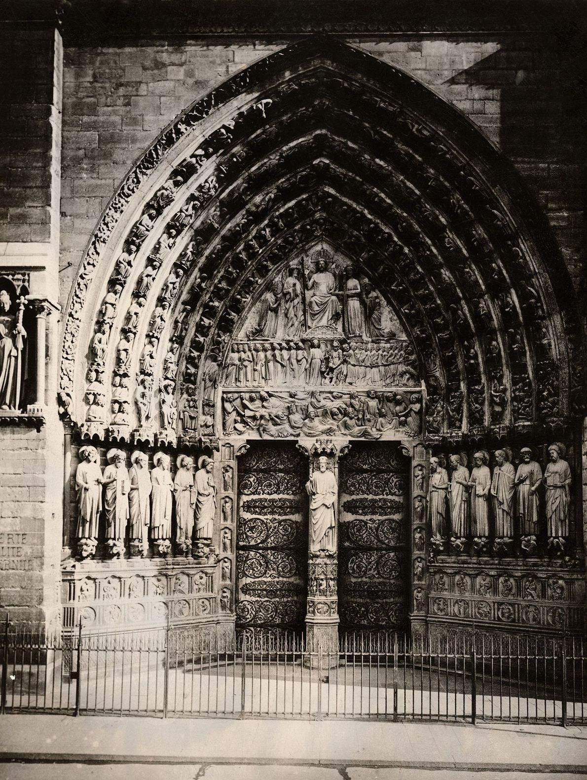 A stone carving on Notre Dame's Portal of Judgement shows the dead crawling toward the Archangel ...