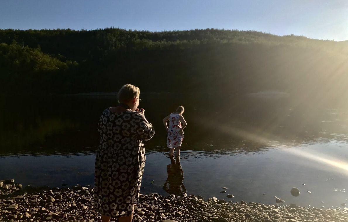 """""""Two women travellers to reclaim their heritage at Saami and Suomi, Arctic borders, Finland and Norway,"""" ..."""