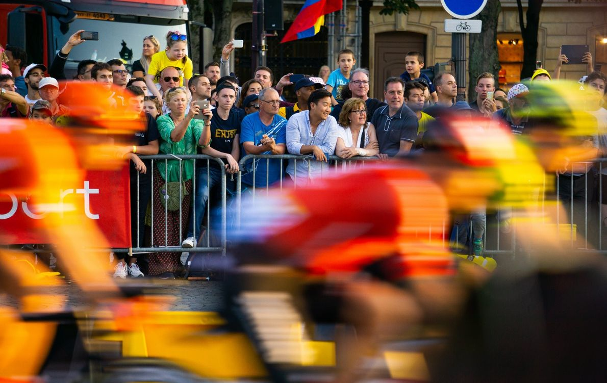 Your Shot photographer Joseph Campbell documented this moment during the 2019 Tour de France in Paris, ...