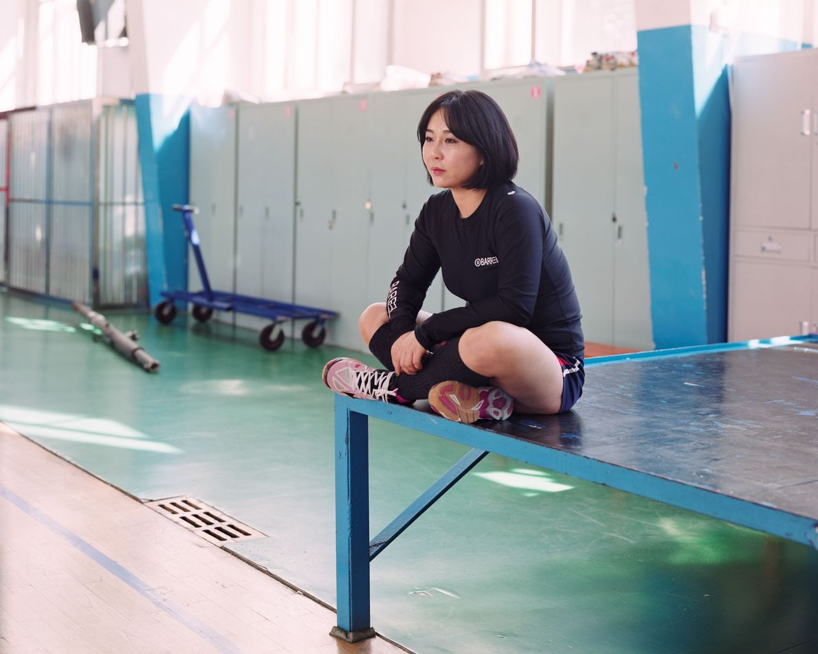 "Ai Ling, a 19-year-old athlete in Longjing, China says, ""I'm a volleyball player at my university, ..."
