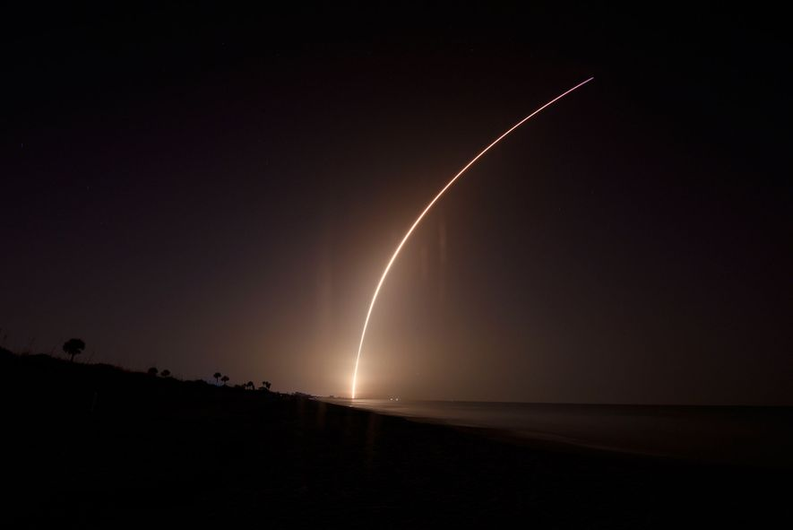 On June 25, a SpaceX Falcon Heavy rocket blazed through the early morning skies above Cape ...