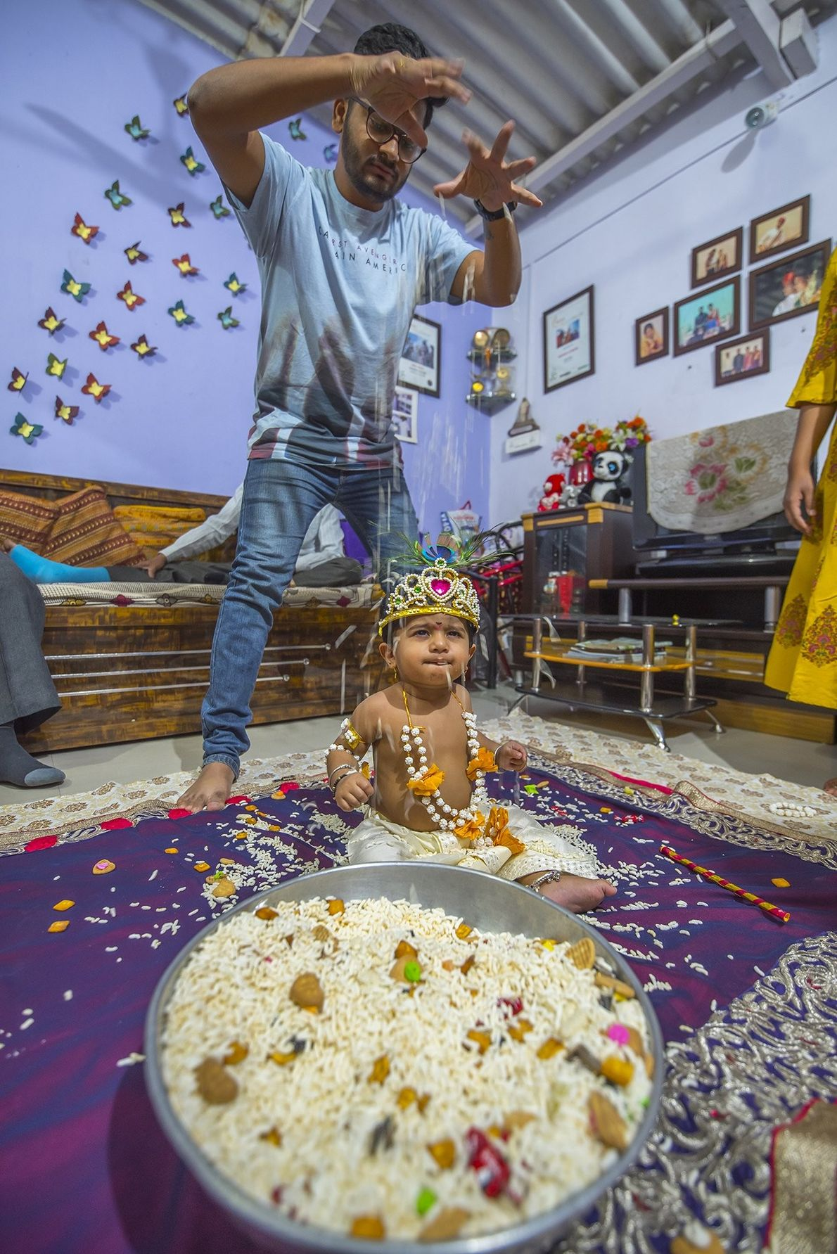 """""""It is believed that first born child should be celebrated on Ratha Saptami,"""" writes Your Shot ..."""