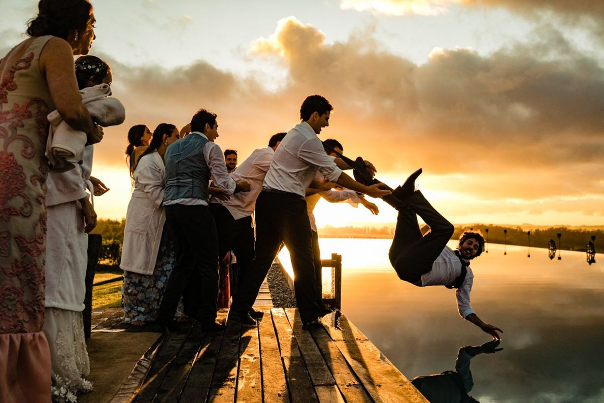 """""""The party was finished and I already say goodbye to the couple,"""" writes Your Shot photographer ..."""