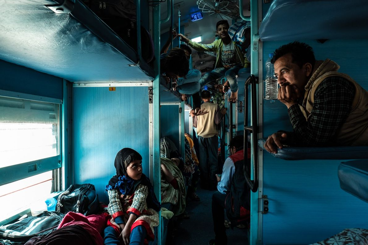"Your Shot photographer Giuliano Lo Re documented this scene on a train car in India. ""These ..."
