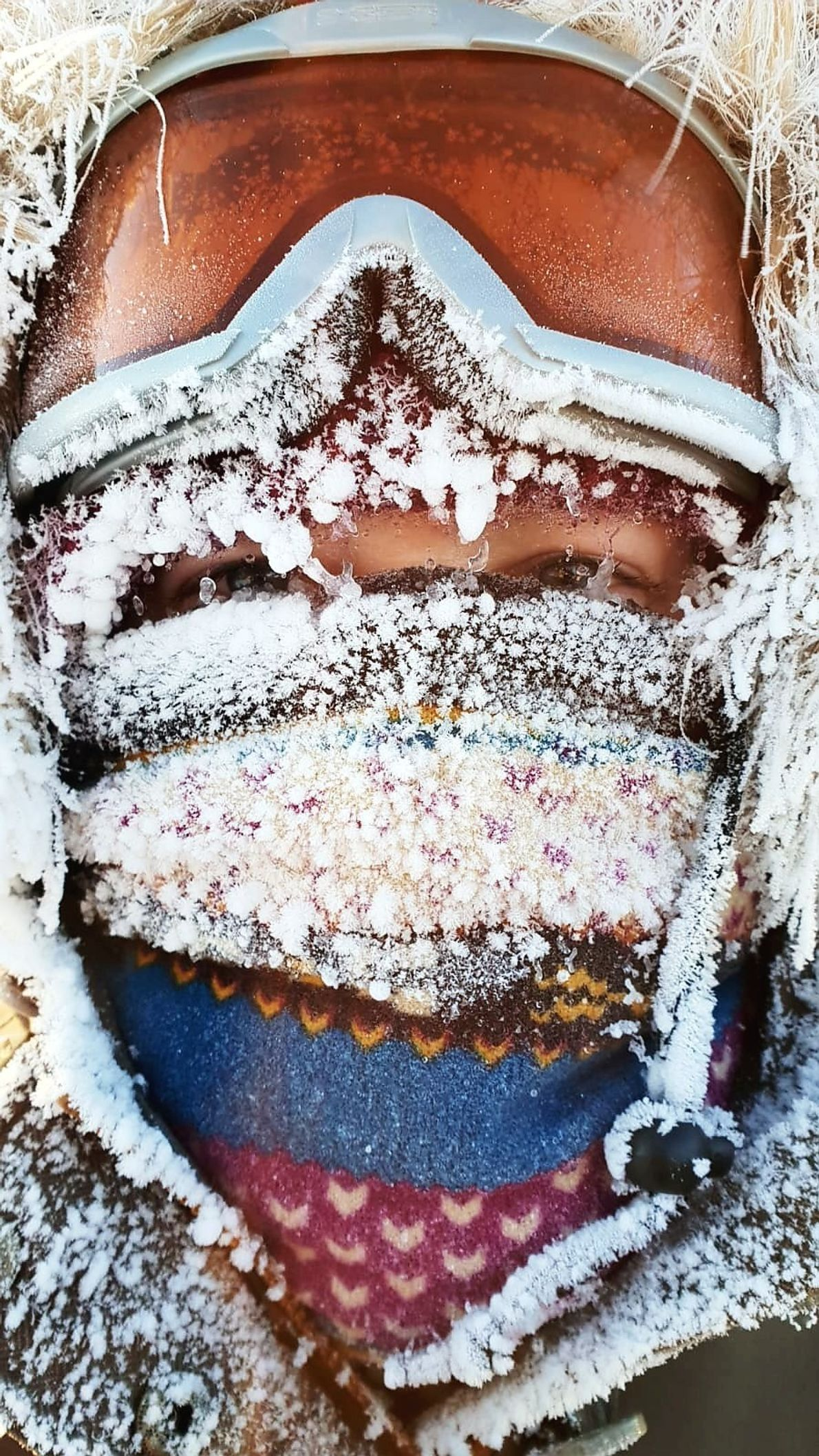 """""""I took this picture in very cold day, frost was covering everything including people faces,"""" writes ..."""